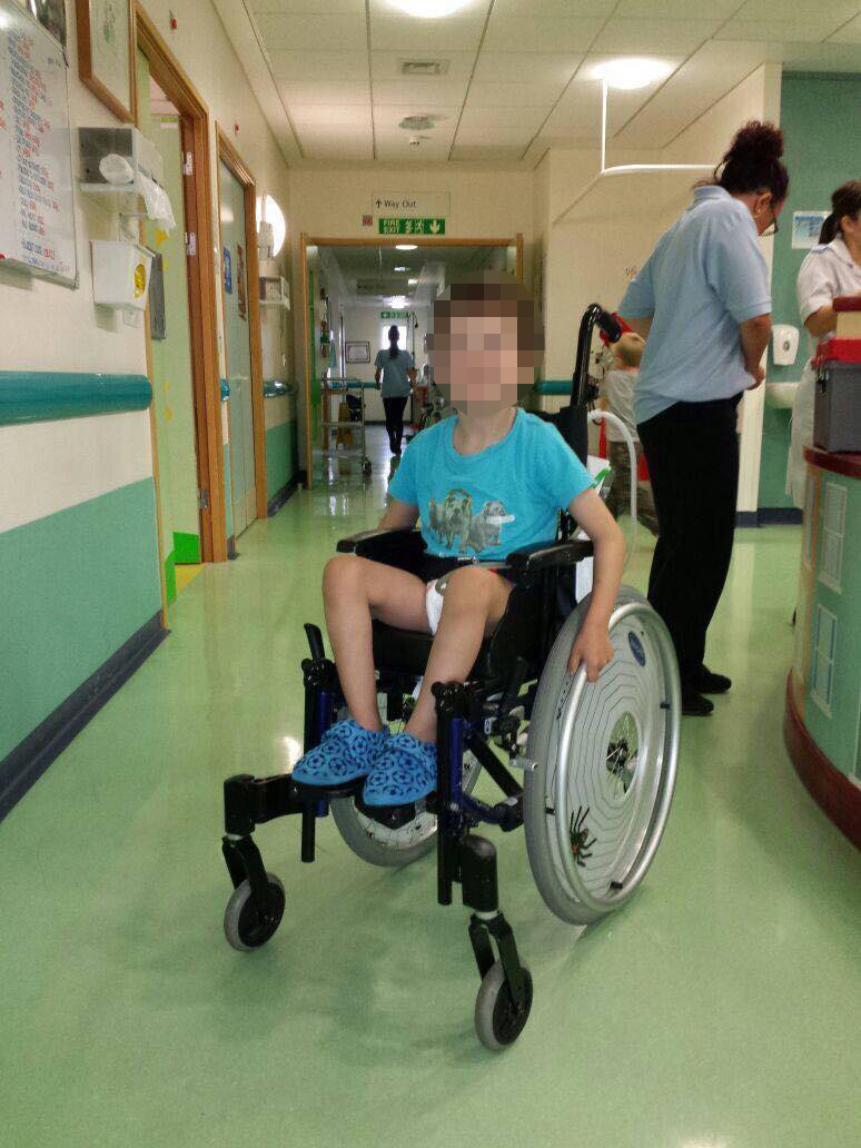 Appeal for information after boy with cerebral palsy has wheelchair taken