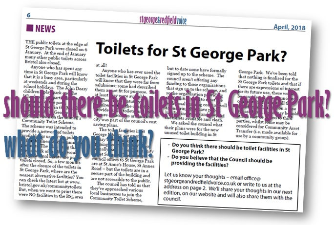 extract from April 2018 edition of St George and Redfield Voice