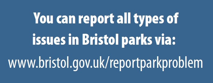 Report problem in any of the St George Parks to Bristol City Council