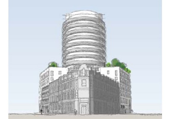 15-storey tower block with no car parking planned next to Lawrence Hill roundabout