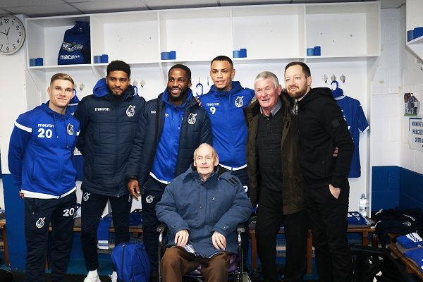 Rovers fan Peter's VIP day out