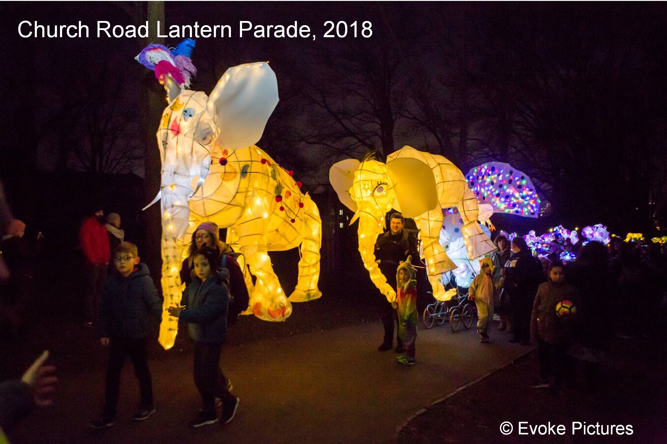photo, Church Road Lantern Parade 2018