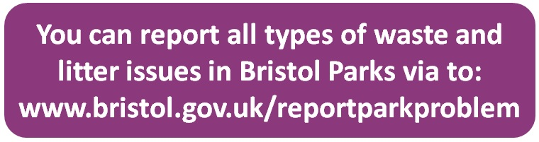 Report park problems to Bristol City Council (click here)